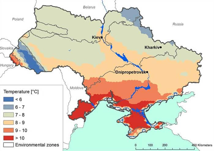 Climatic Map of Ukraine